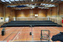 School production tiered seating riser.