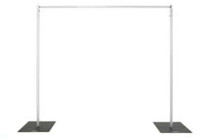 Once crossbars have been inserted, you are now ready to loosely hang your drapes.
