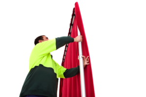 You are now ready to extend the uprights to the desired height. Extend one upright at a time in small increments, until you have reached the desired height.